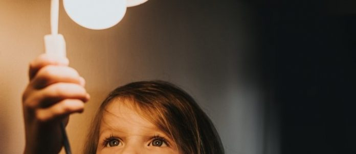 girl with light